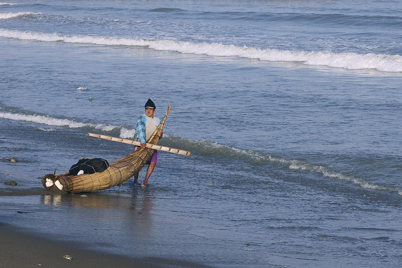 Pescador en Trujillo